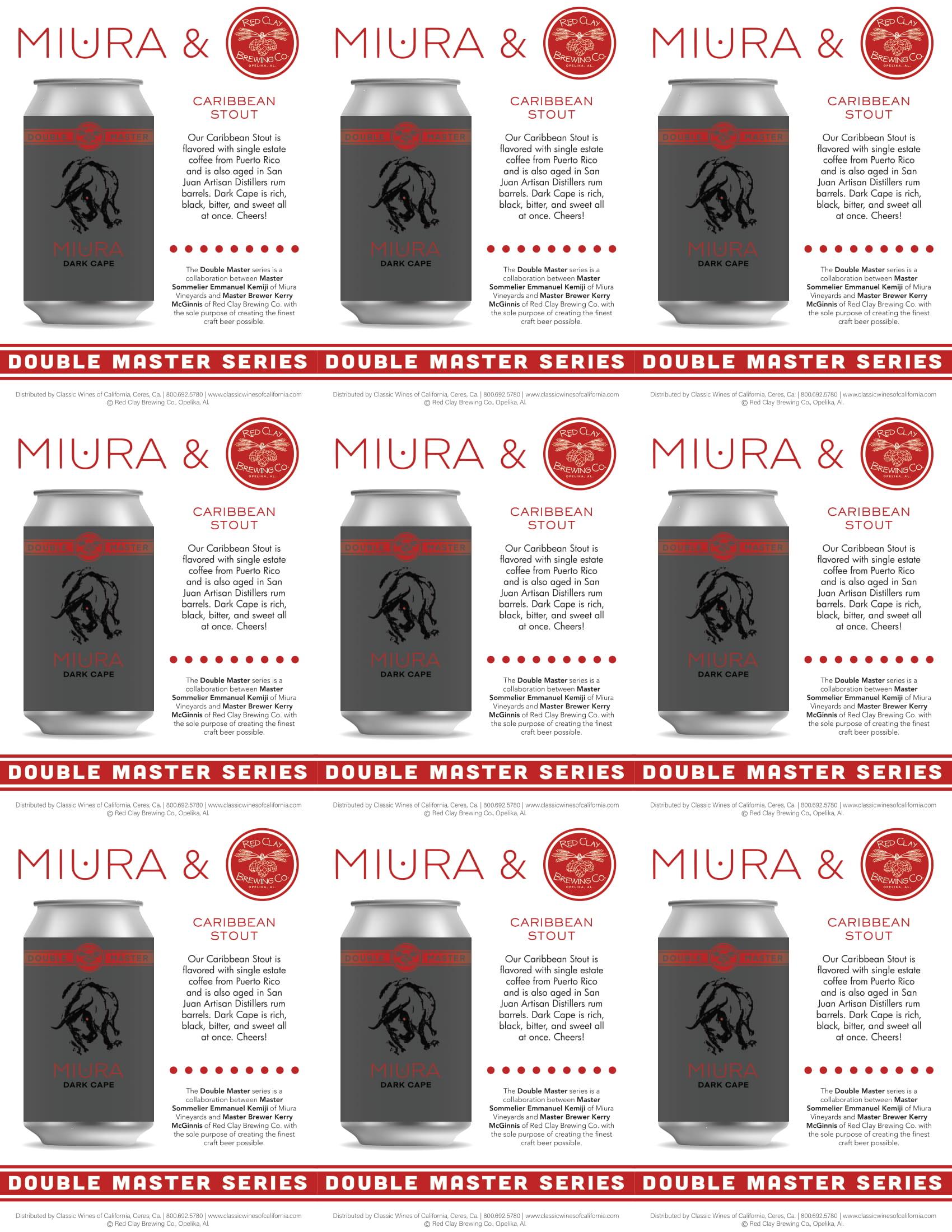 Miura Craft Beer Caribbean Stout Shelf Talker