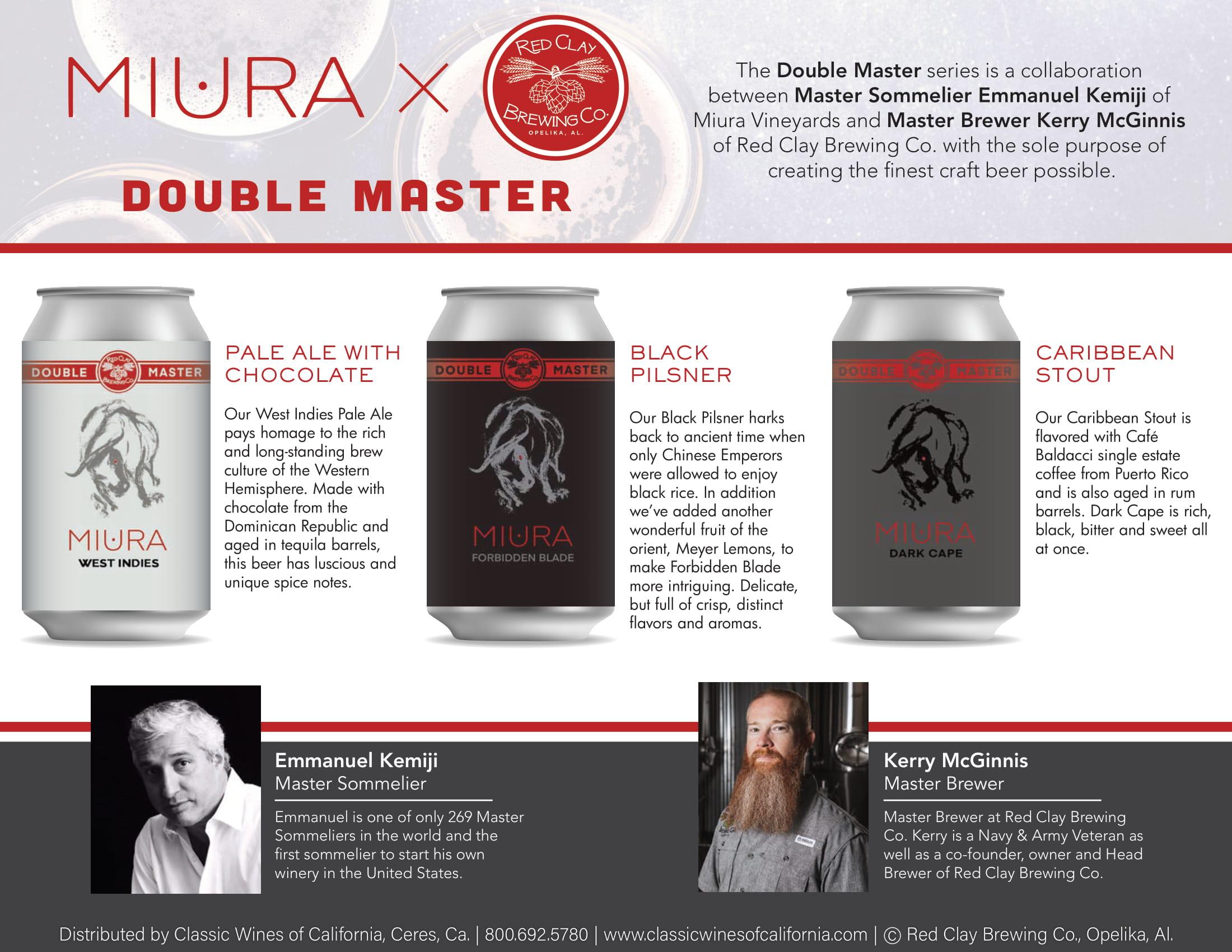 Miura Craft Beer Family Tech Sheet