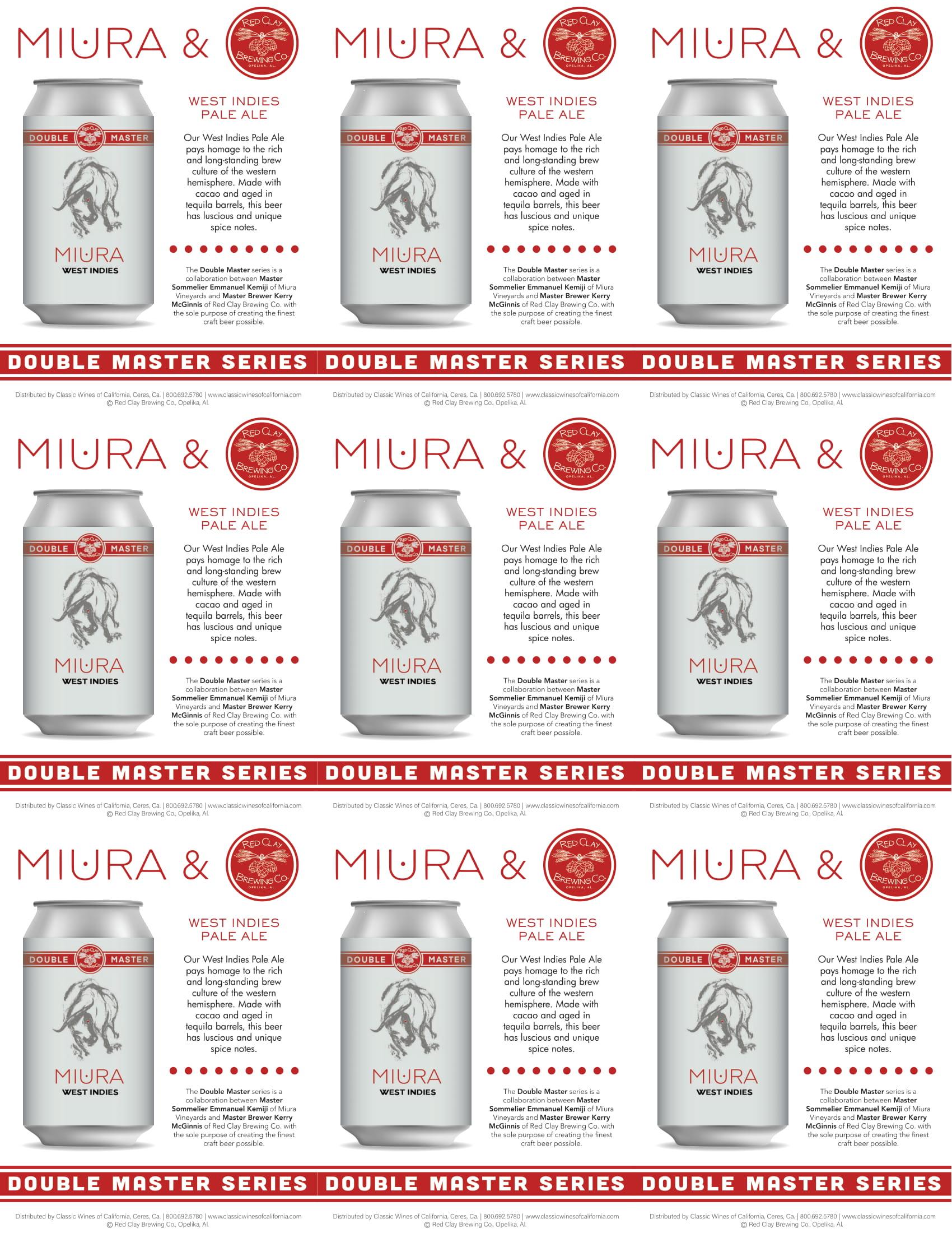 Miura Craft Beer West Indies Pale Ale Shelf Talker