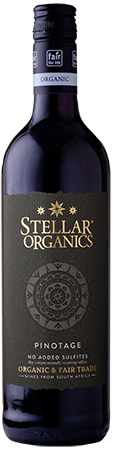 Stellar Organics Pinotage Bottleshot