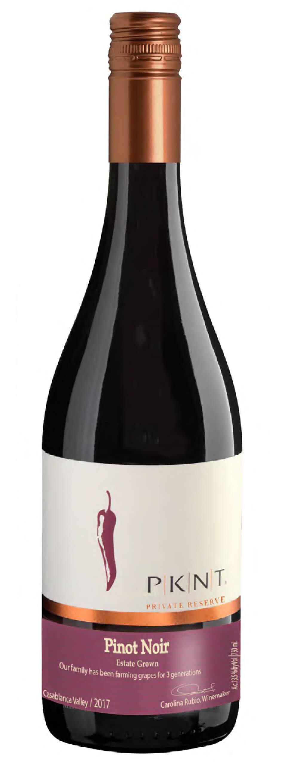 PKNT Pinot Noir Reserve Bottleshot