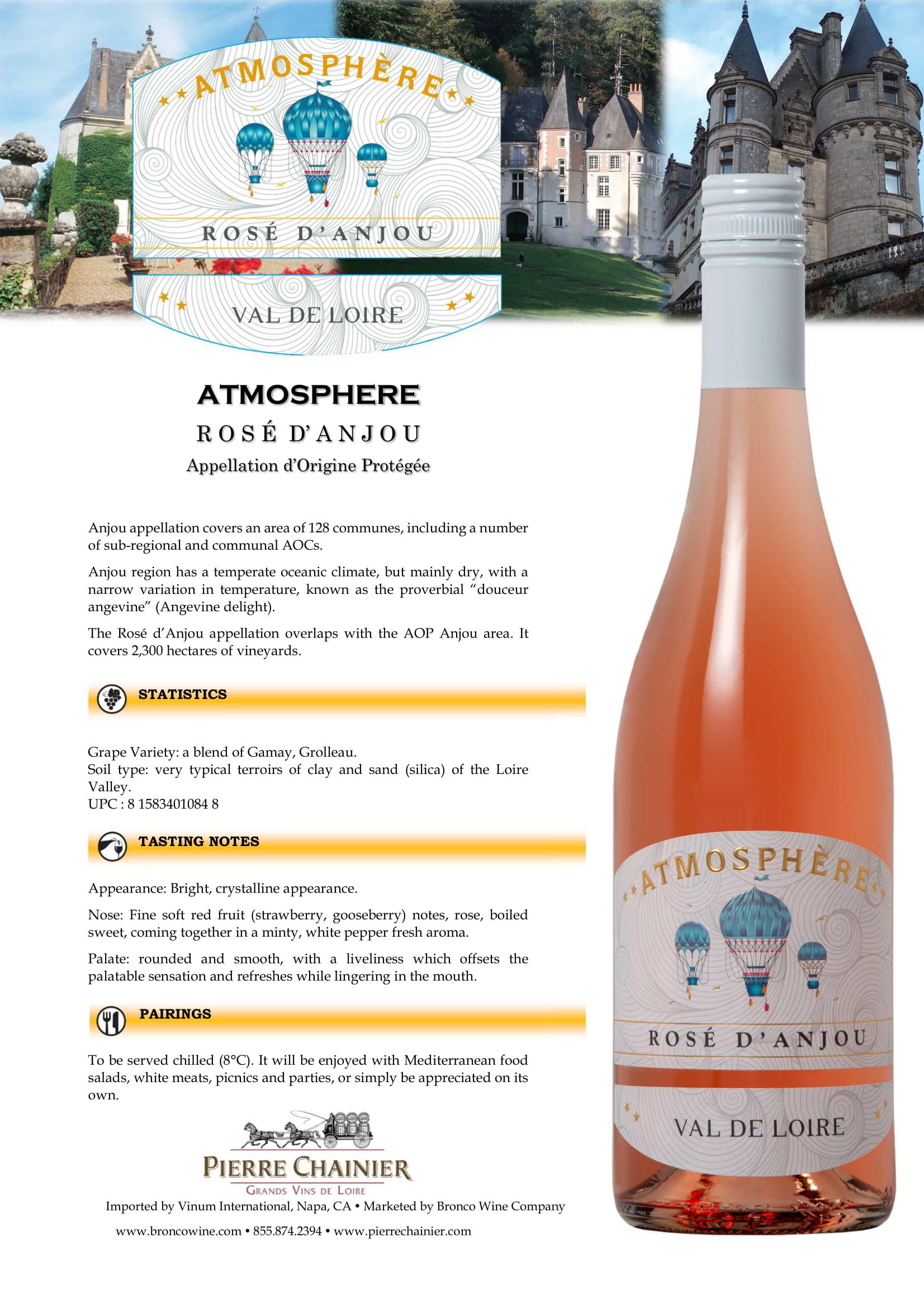 Atmosphere Rose Anjou Tech Sheet