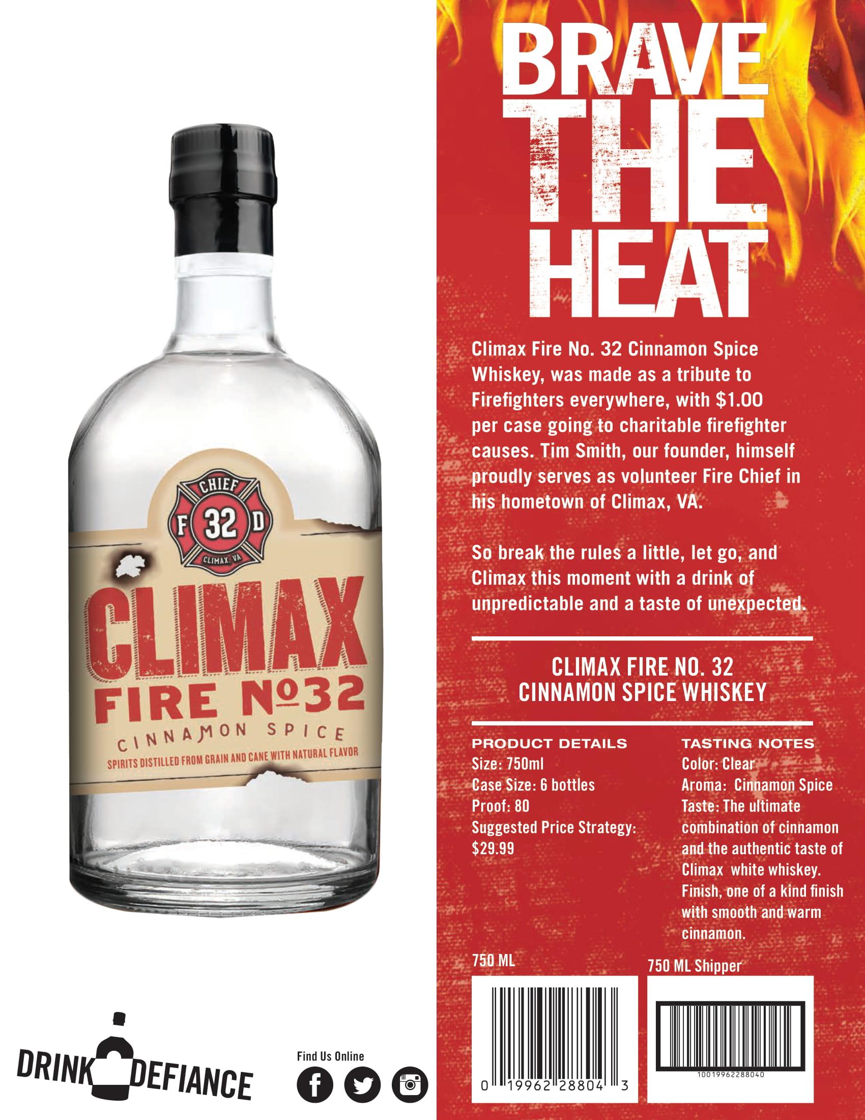 Climax Cinnamon Moonshine Tech Sheet