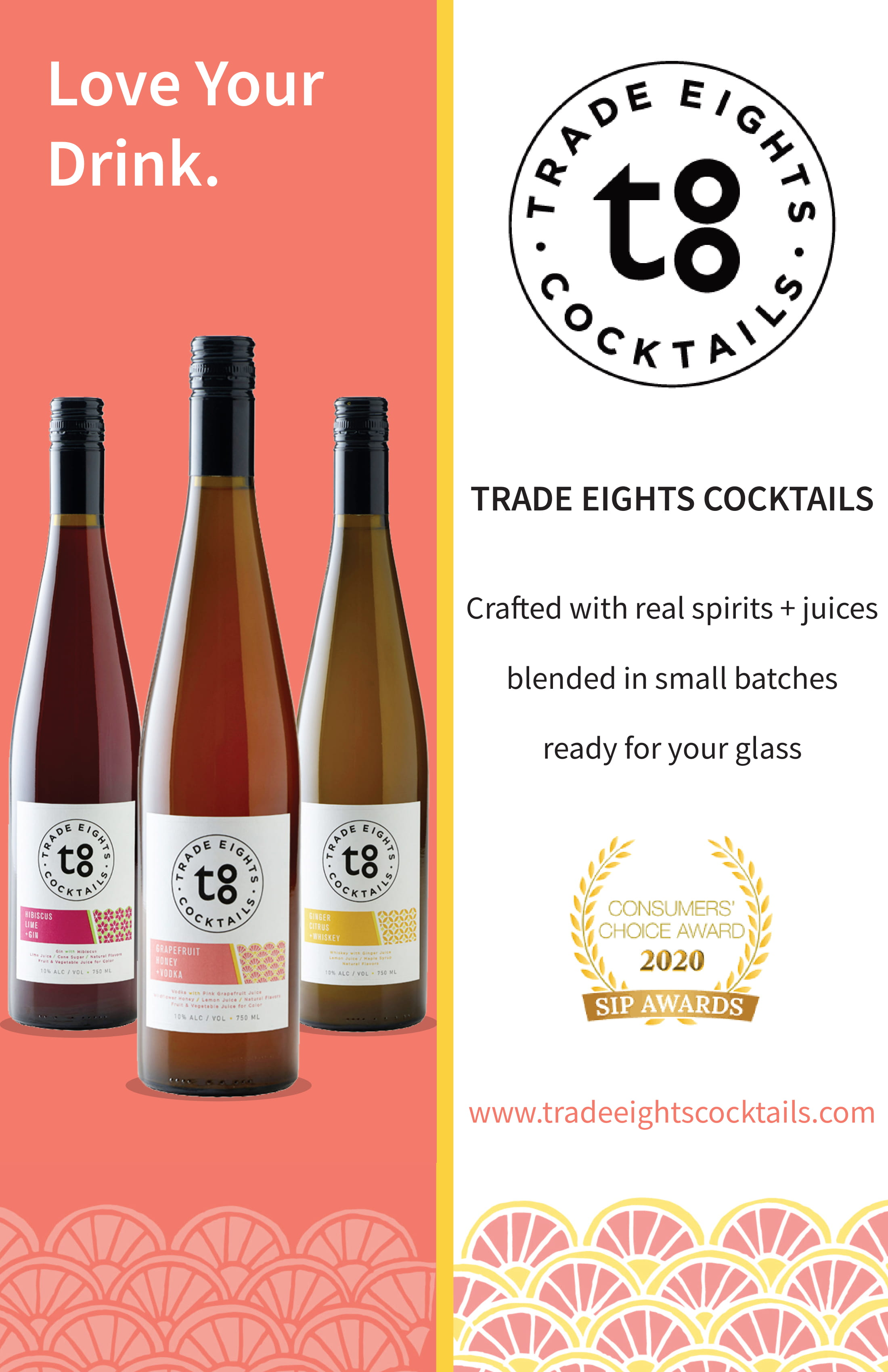 Trade Eights Cocktails Poster