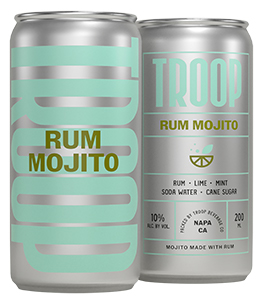 Troop Cocktails Rum Mojito Bottleshot
