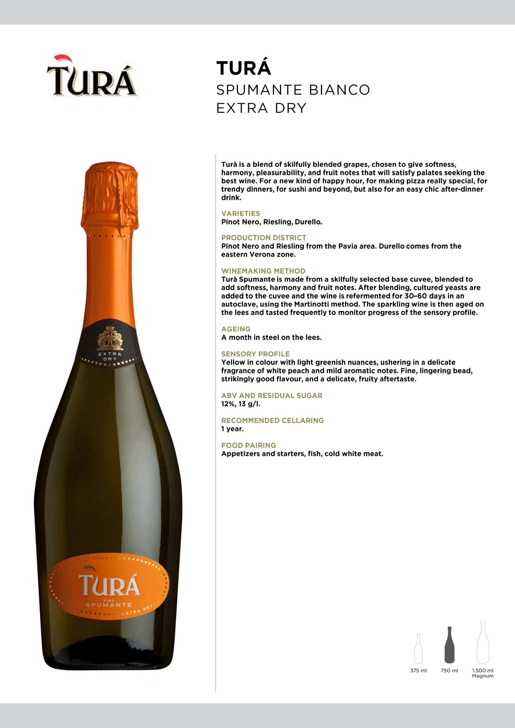 Tura Spumante Tech Sheet