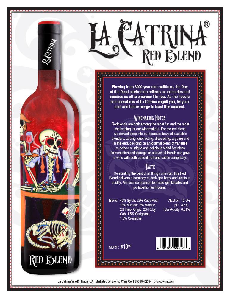 La Catrina Vino Red Blend Tech Sheet