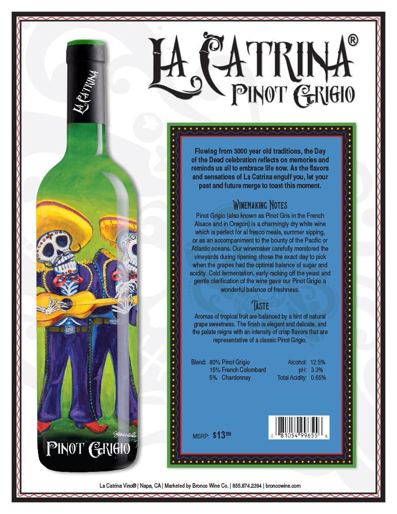 La Catrina Vino Pinot Grigio Tech Sheet