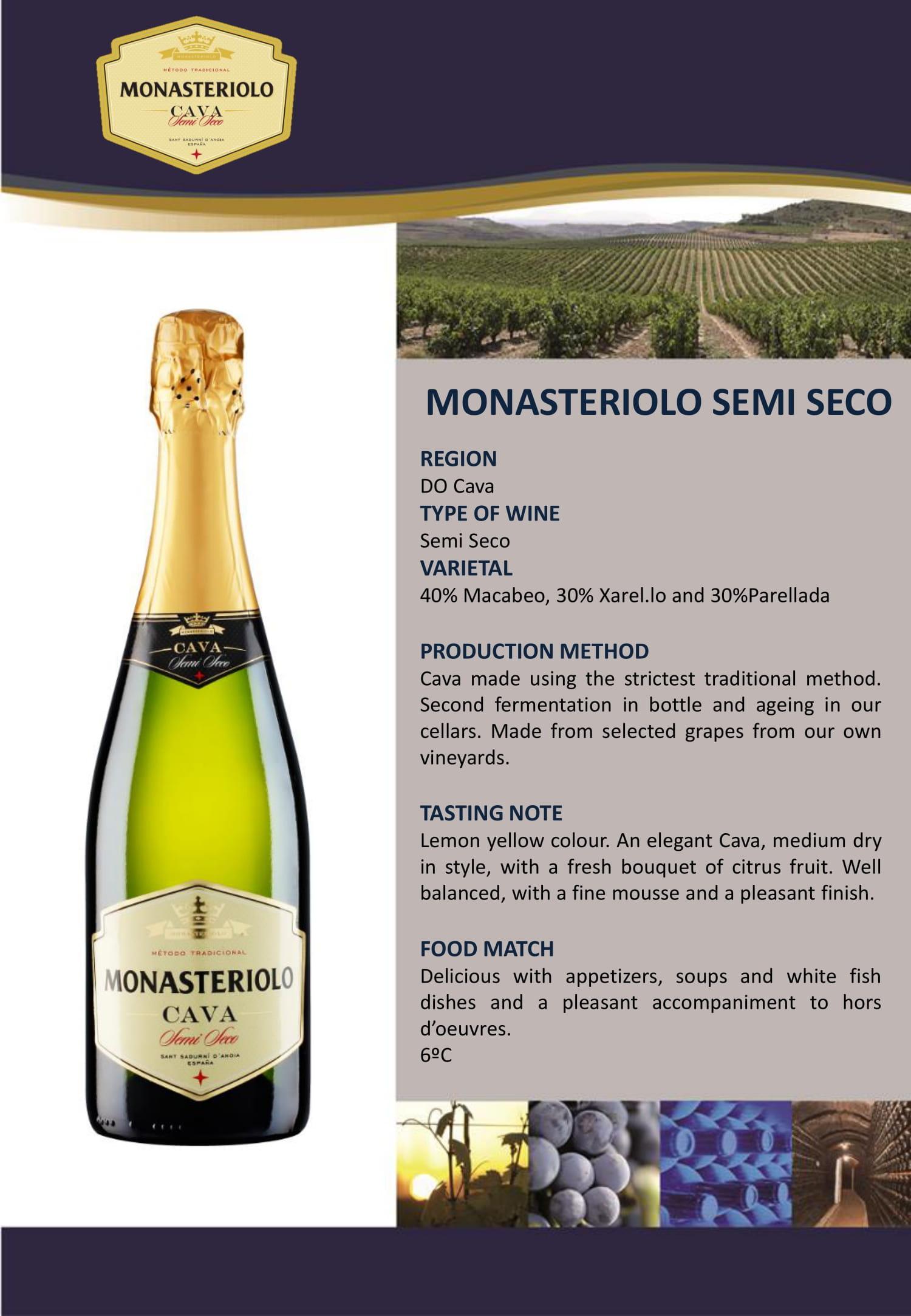Monasteriolo Cava Semi Seco Tech Sheet