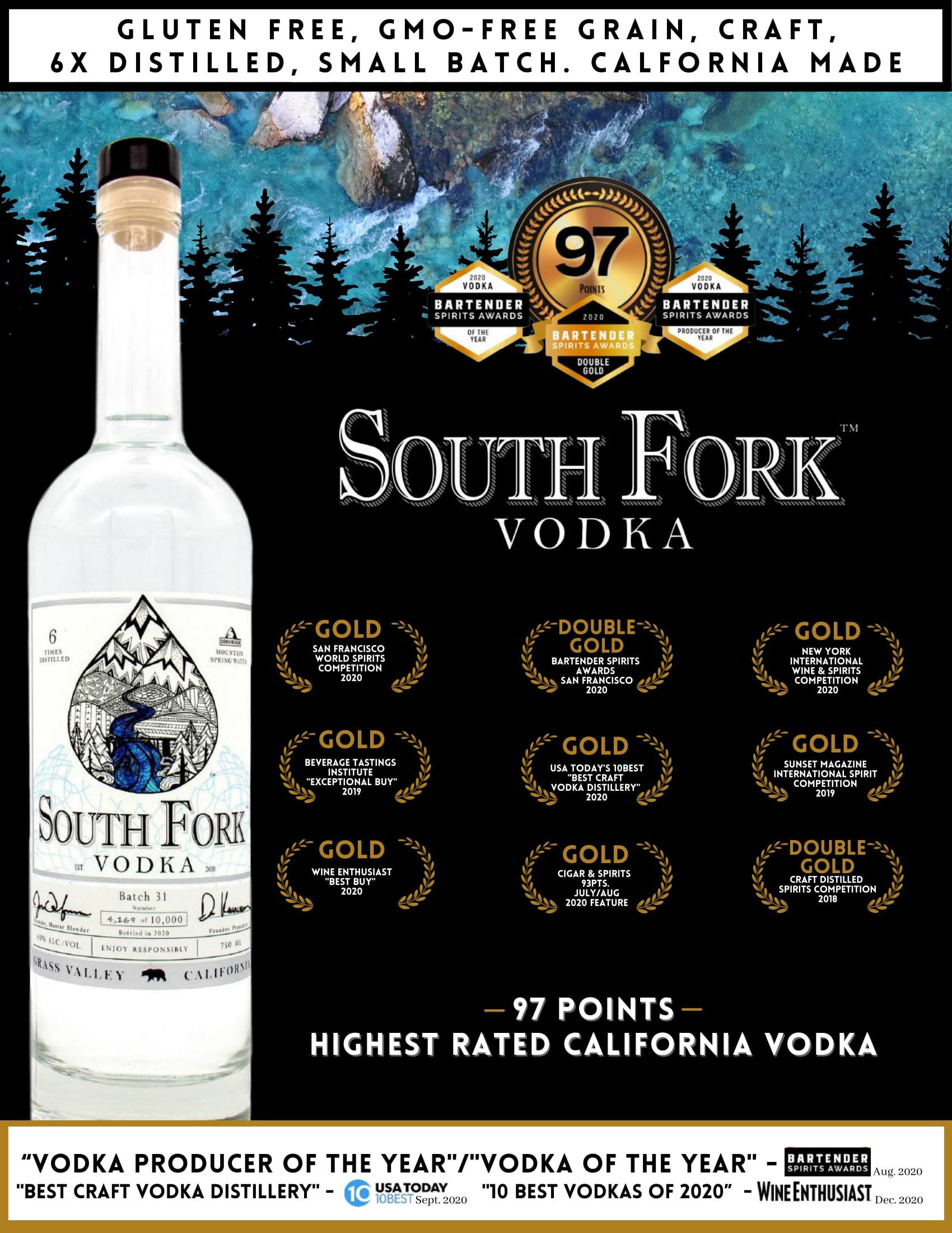 South Fork Vodka Tech Sheet