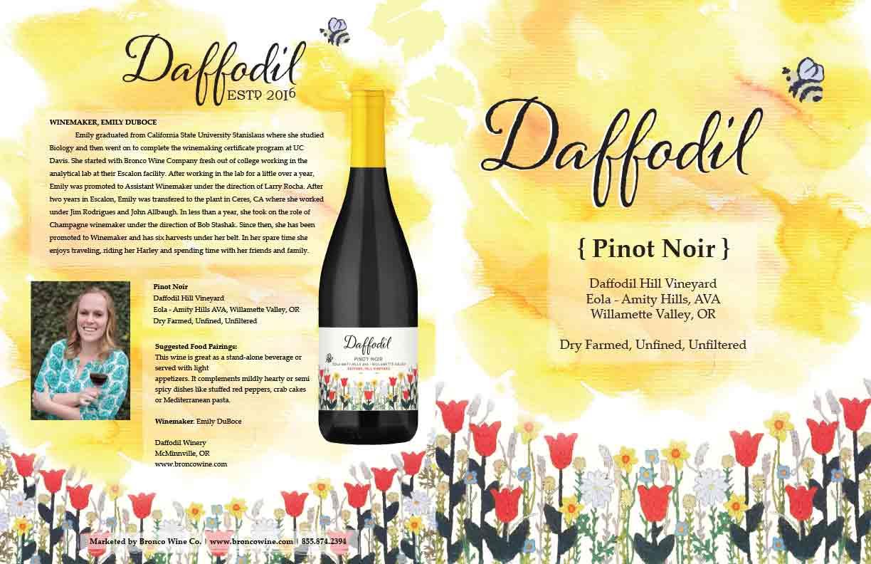 Daffodil Pinot Noir Quadfold Brochure