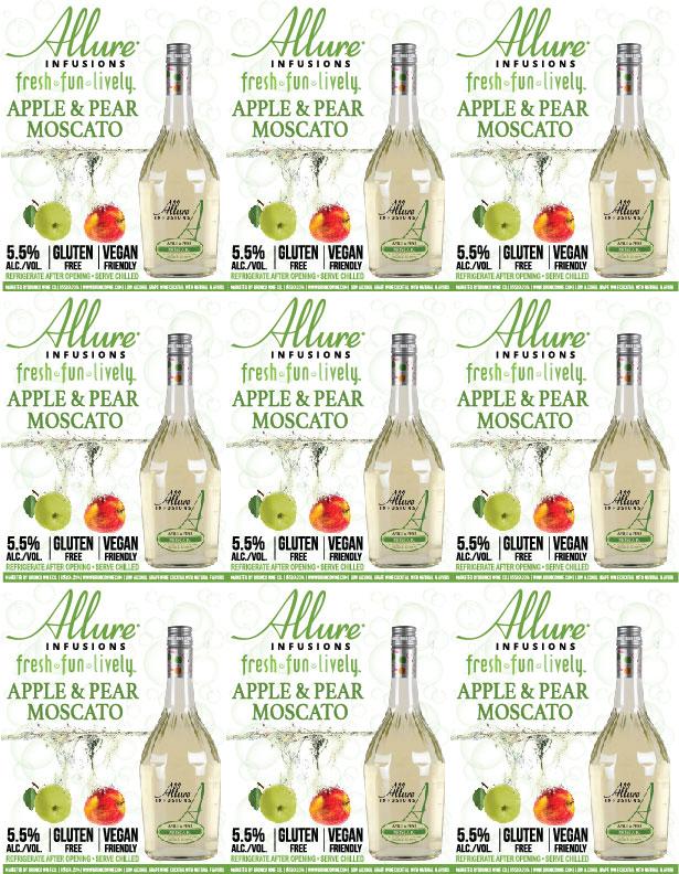 Allure Infusions Apple Pear Moscato Shelf Talker