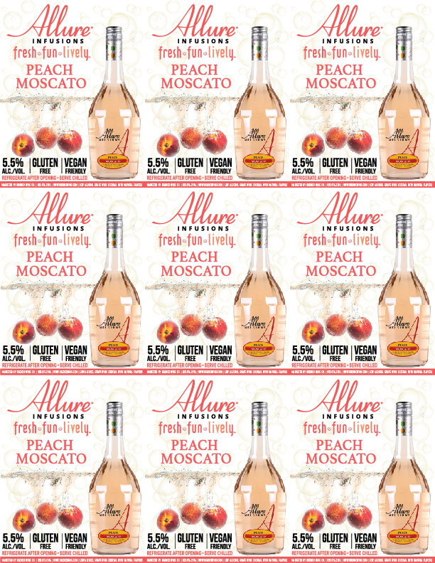 Allure Infusions Peach Moscato Shelf Talkers