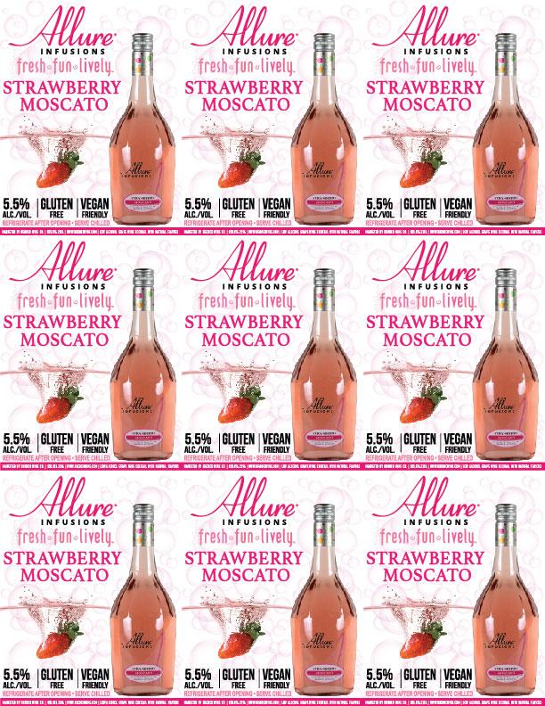 Allure Infusions Strawberry Moscato Shelf Talker
