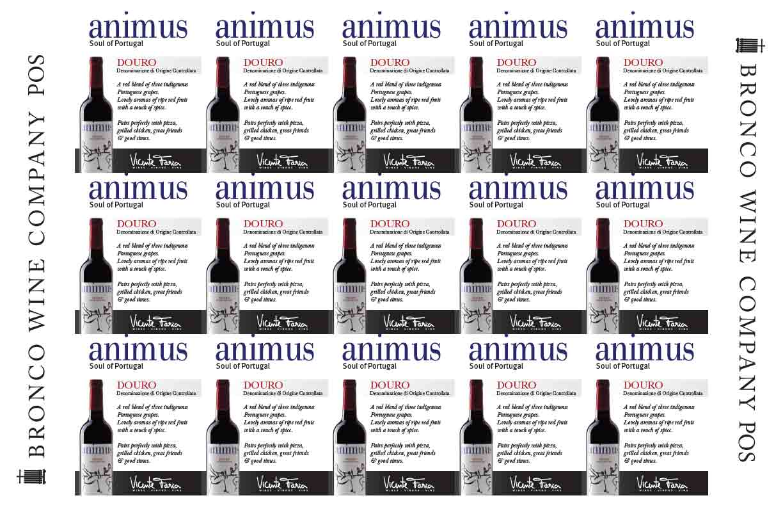 Animus Douro Shelf talkers