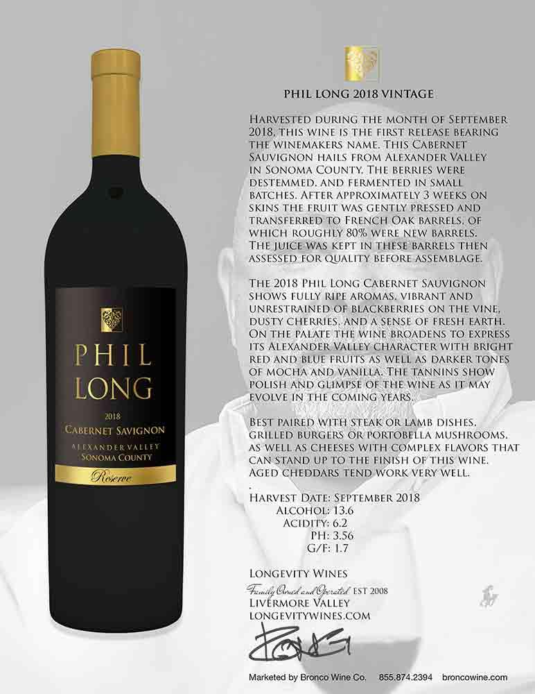 Phil Long Reserve Alexander Valley Cabernet Sauvignon Tech Sheet