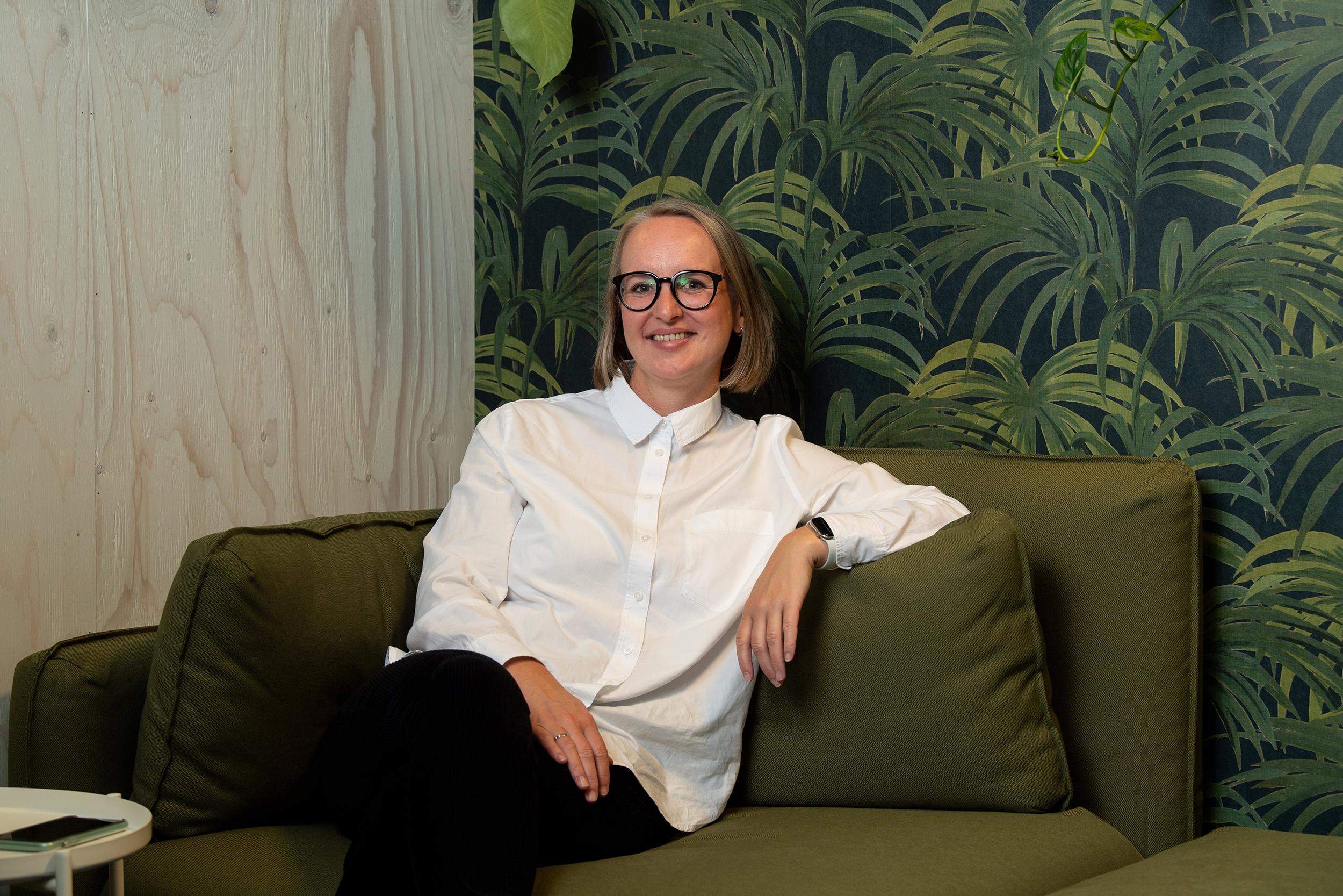 Portrettbilde av Stine Vinnes, Leder for Tech og Design i Labs