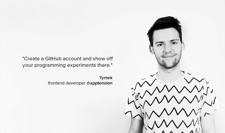 Tymek junior developer advice