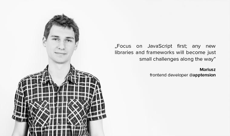 Mariusz junior developer advice
