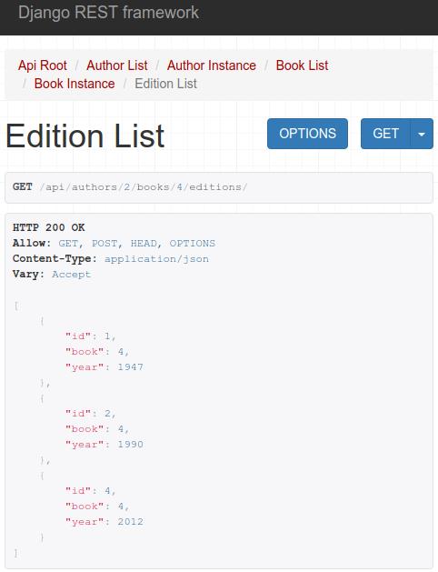 edition list