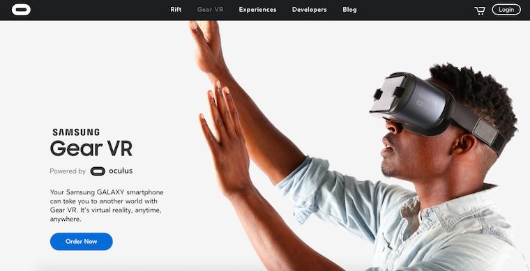 oculus landing page