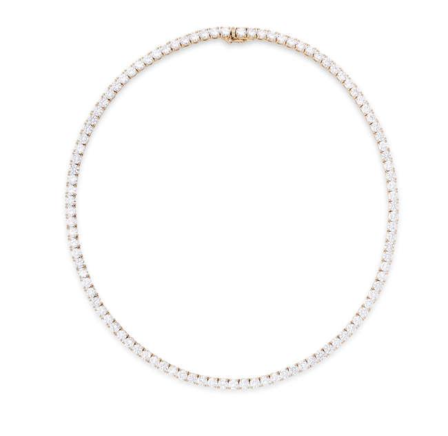 A FINE DIAMOND LINE NECKLACE, BY CARTIER