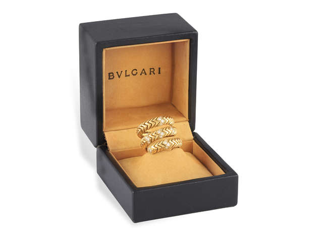 A DIAMOND 'SPIGA' RING, BY BULGARI