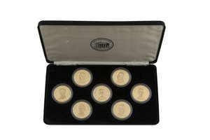 IRISH INDEPENDENT EASTER COLLECTION 1916-1991 - UNIQUE GOLD MEDALLIONS.