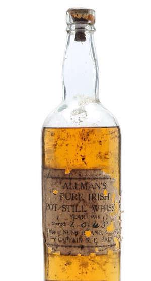 1916 ALLMANS PURE IRISH POT STILL WHISKEY