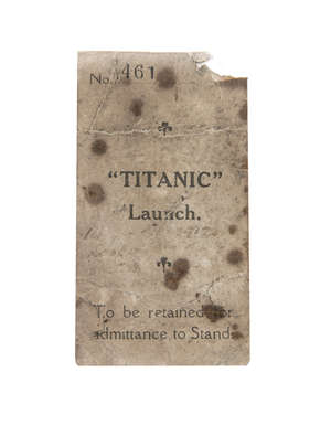 HARLAND AND WOLFF ORIGINAL AUTHENTIC TICKET STUB