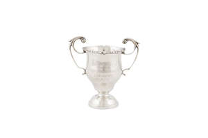 """1916 """"Defence of Trinity College"""" silver presentation cup awarded to Private Garnet Douglas King"""