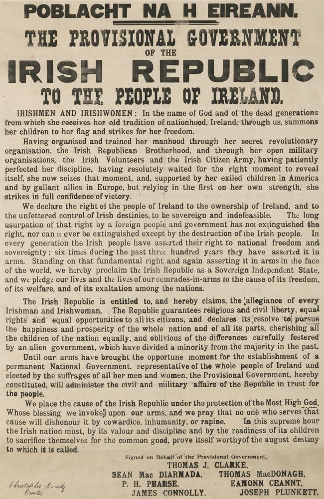 1916 PROCLAMATION - ORIGINAL PRINTING