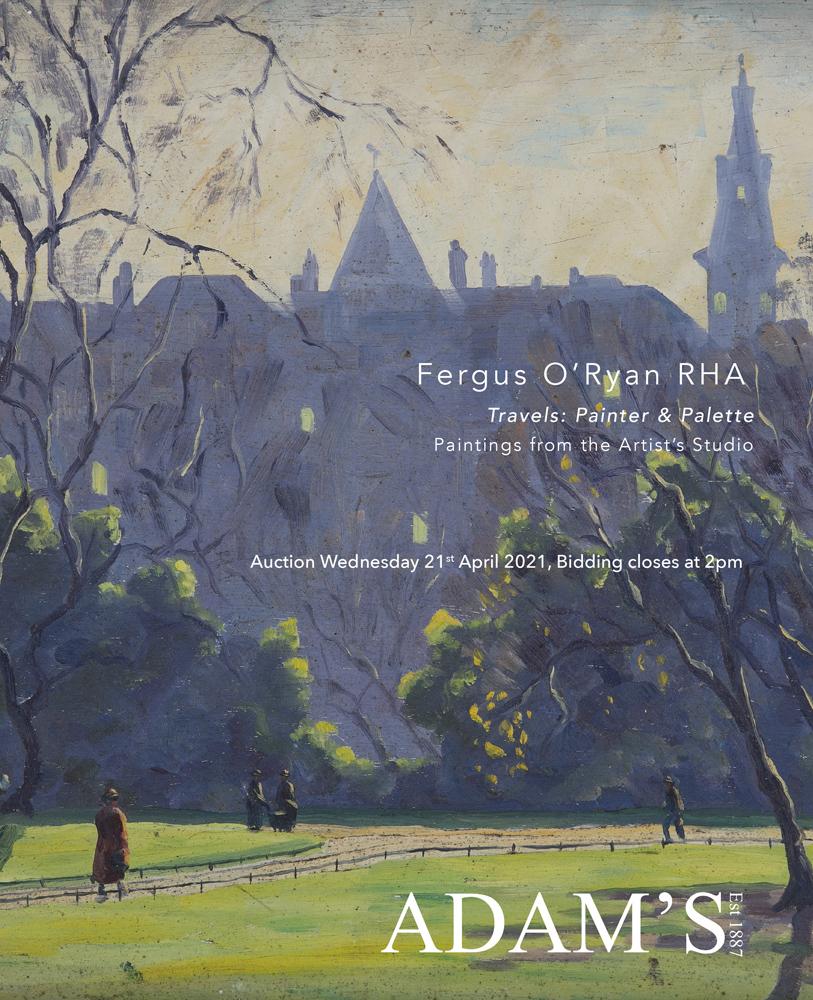 FERGUS O'RYAN RHA - TRAVELS: PAINTER & PALETTE