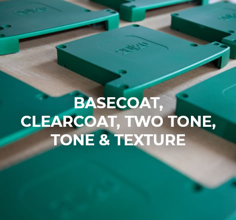 Basecoat, clearcoat, two tone, tone & texture