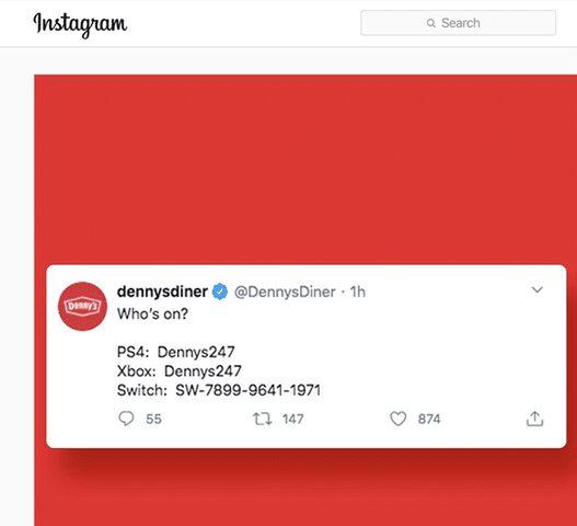 Denny's implemented a different approach to digital marketing when it began engaging consumers on videogame platforms.