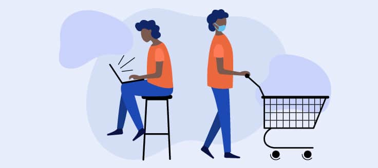 Future commerce may trend toward a hybrid of online and in-store sales.