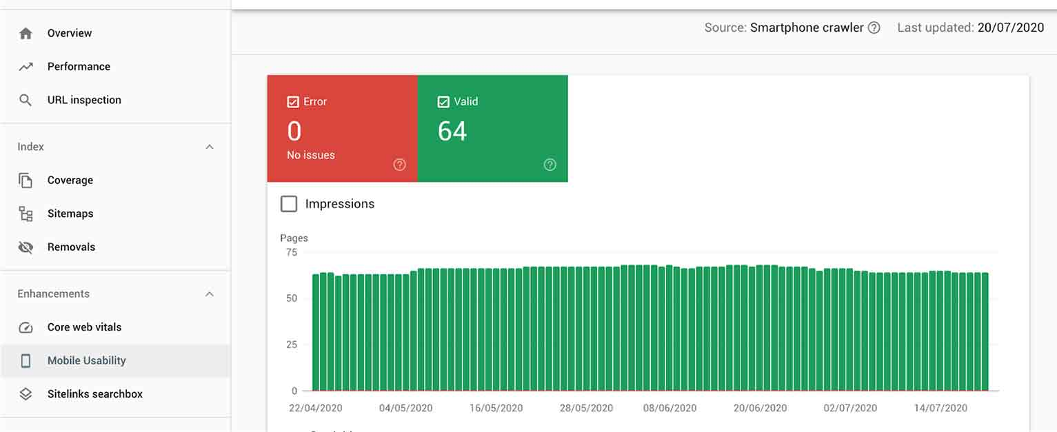 Google Search Console has a report to tell you how good your mobile experience is.