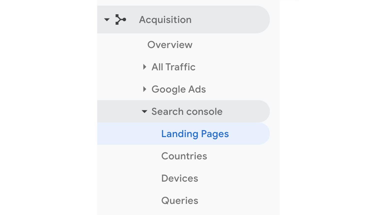 Connect your Google Search Console and Google Analytics accounts to be able to view organic search data from within Analytics as well.
