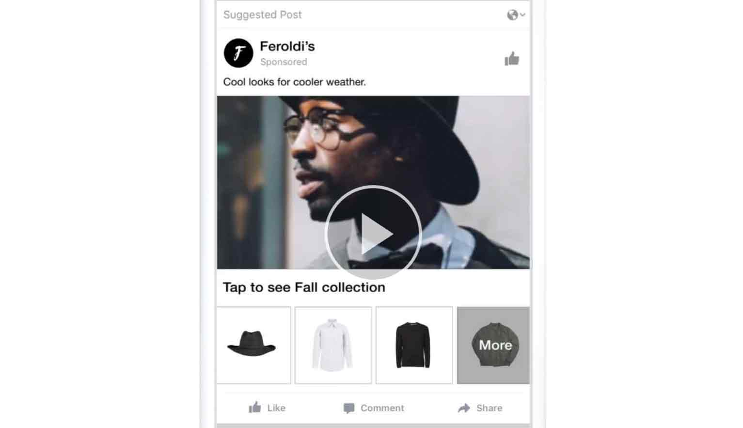 Collection ads work a bit like carousel ads in that you get to showcase multiple products in a single ad, but these ones are only available on mobile.
