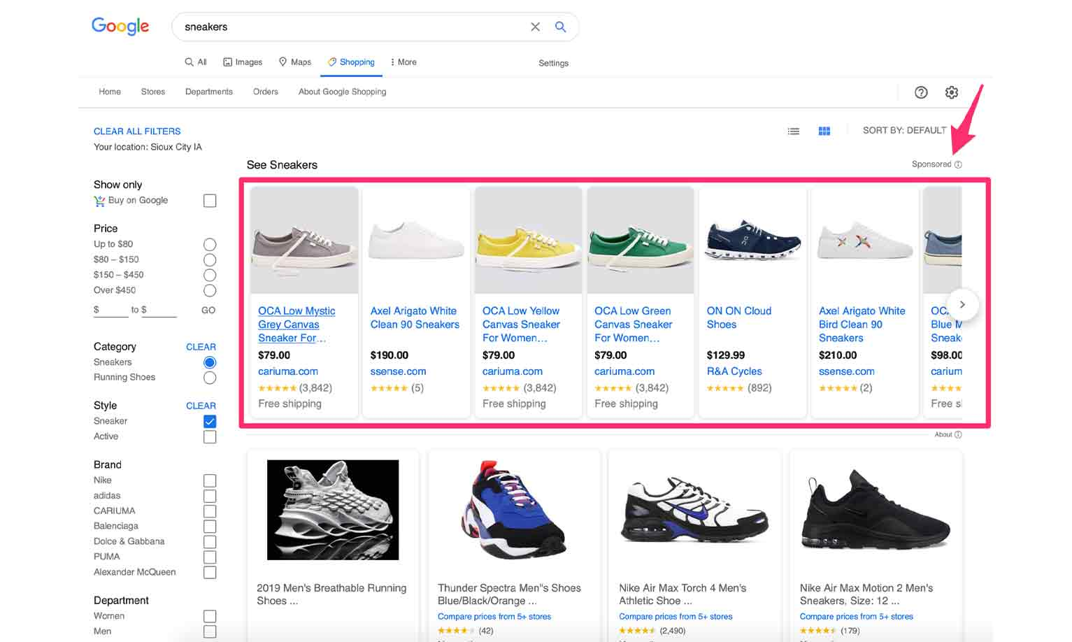 Google Shopping ads allow you to promote your products in Google's Shopping results.