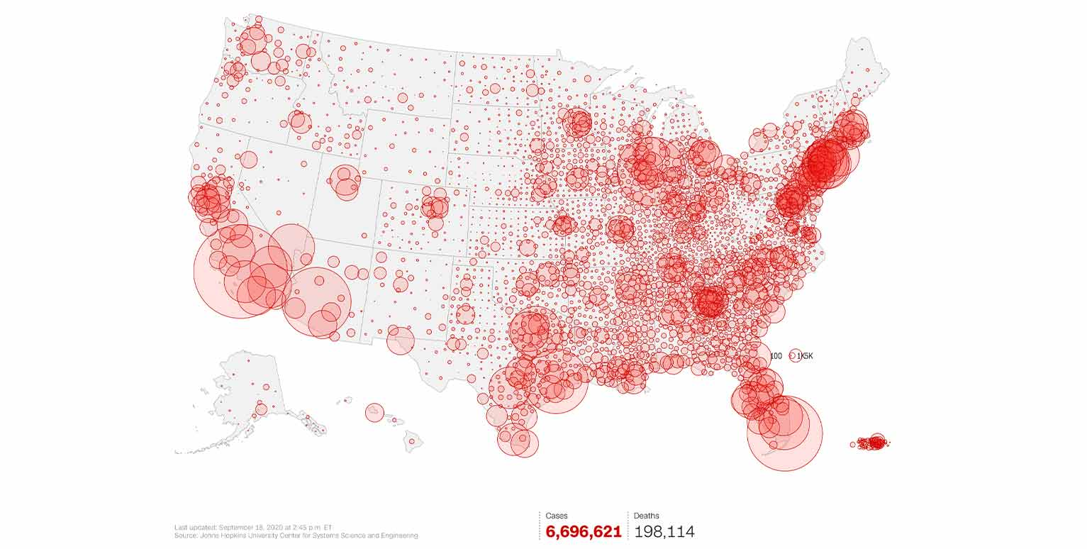 Here's an example of a data map from CNN.