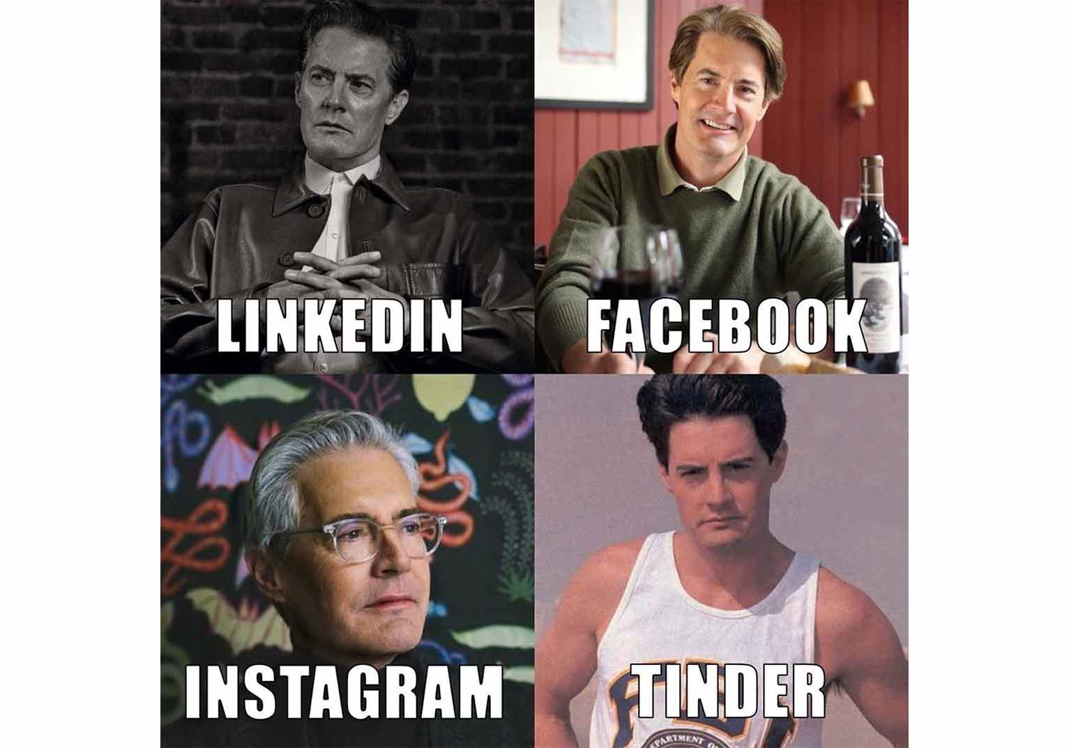 This meme from Kyle Maclachlan followed a widely shared meme that Dolly Parton posted on Instagram.