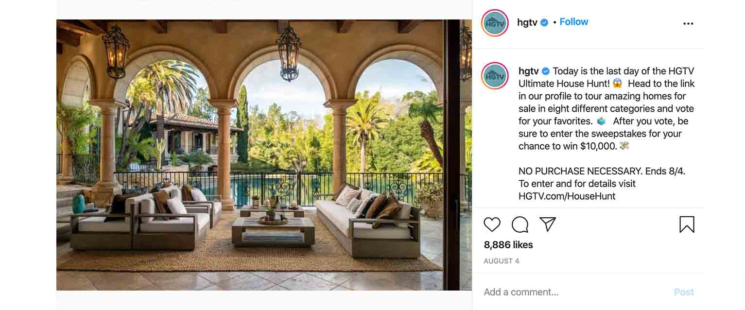 HGTV gets people engaged with voting contests.