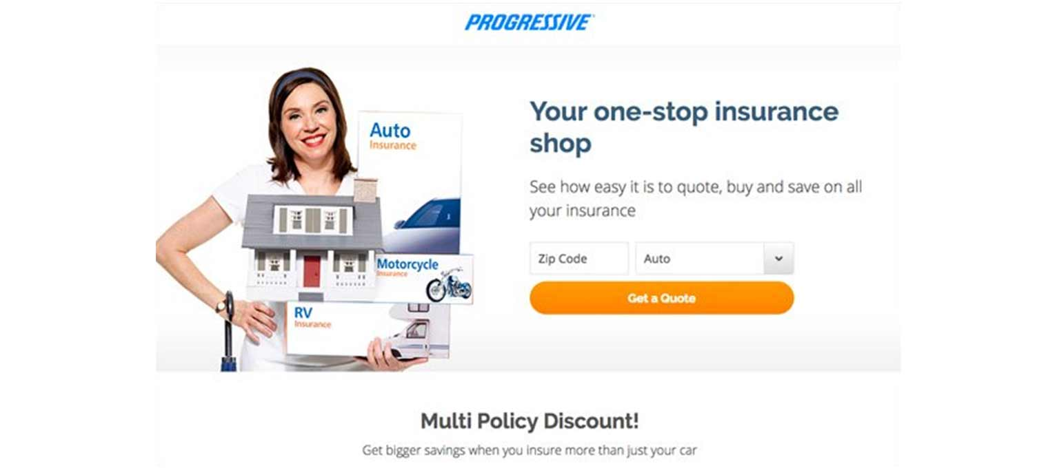 Progressive features a great example of an effective landing page.
