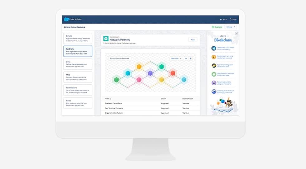 All Salesforce Blockchain setups begin through the Salesforce Blockchain Builder.