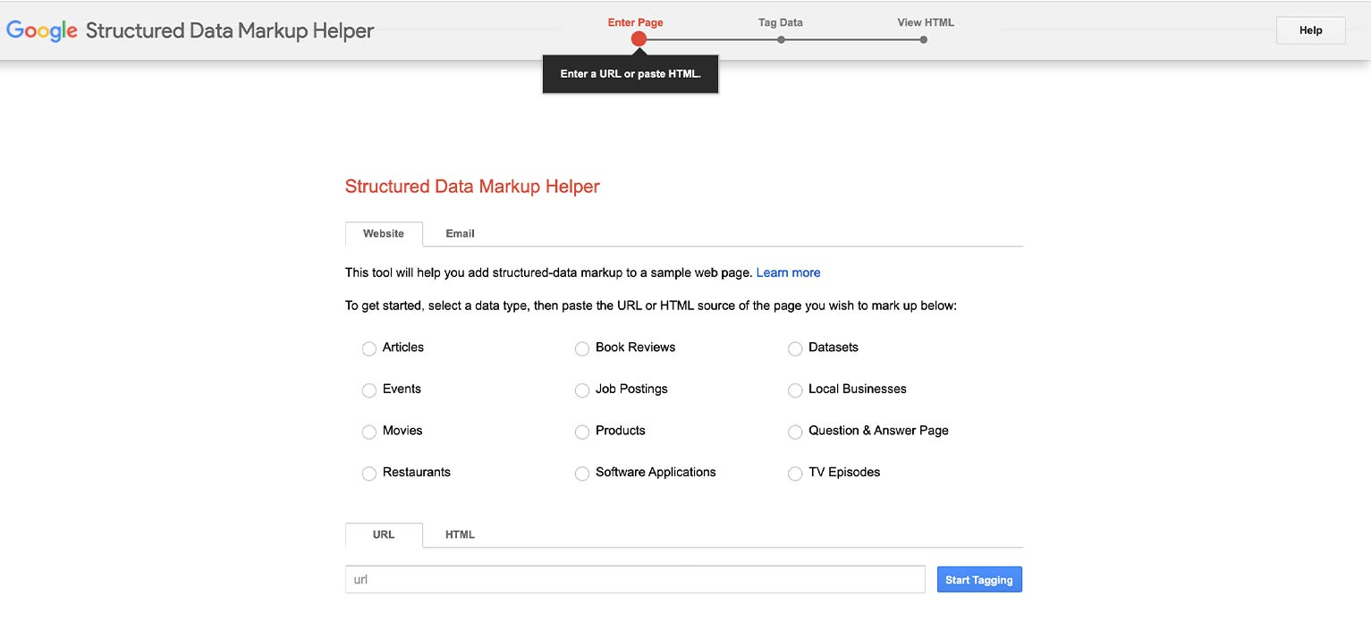 You can use Google's Structured Data Markup Helper to tag your webpage.