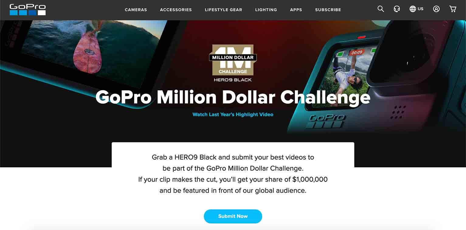 """GoPro's """"Million Dollar Challenge"""" encourages participants to grab their HERO9 Black camera and film rad videos."""