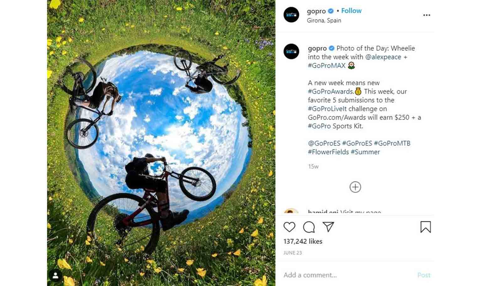 The #GoProLiveIt even challenges creators to share photos of moments that made them feel alive to earn valuable prizes.