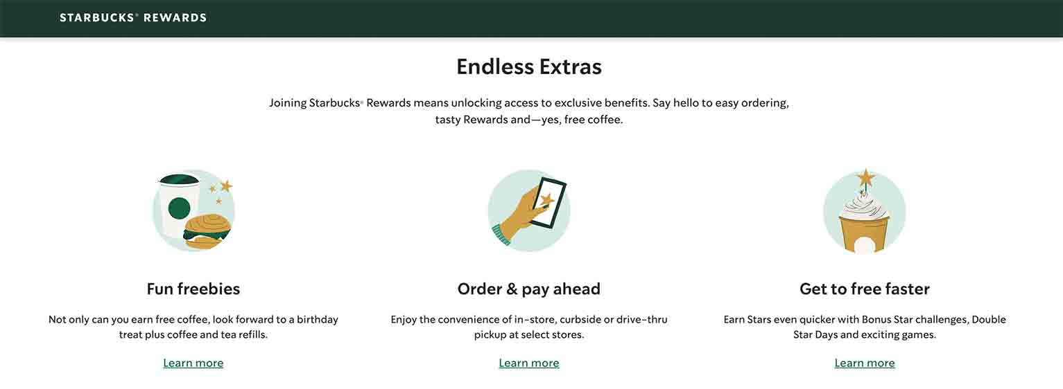Starbucks spices up its loyalty program by letting members enjoy convenient payment options, in-app games and send promos.