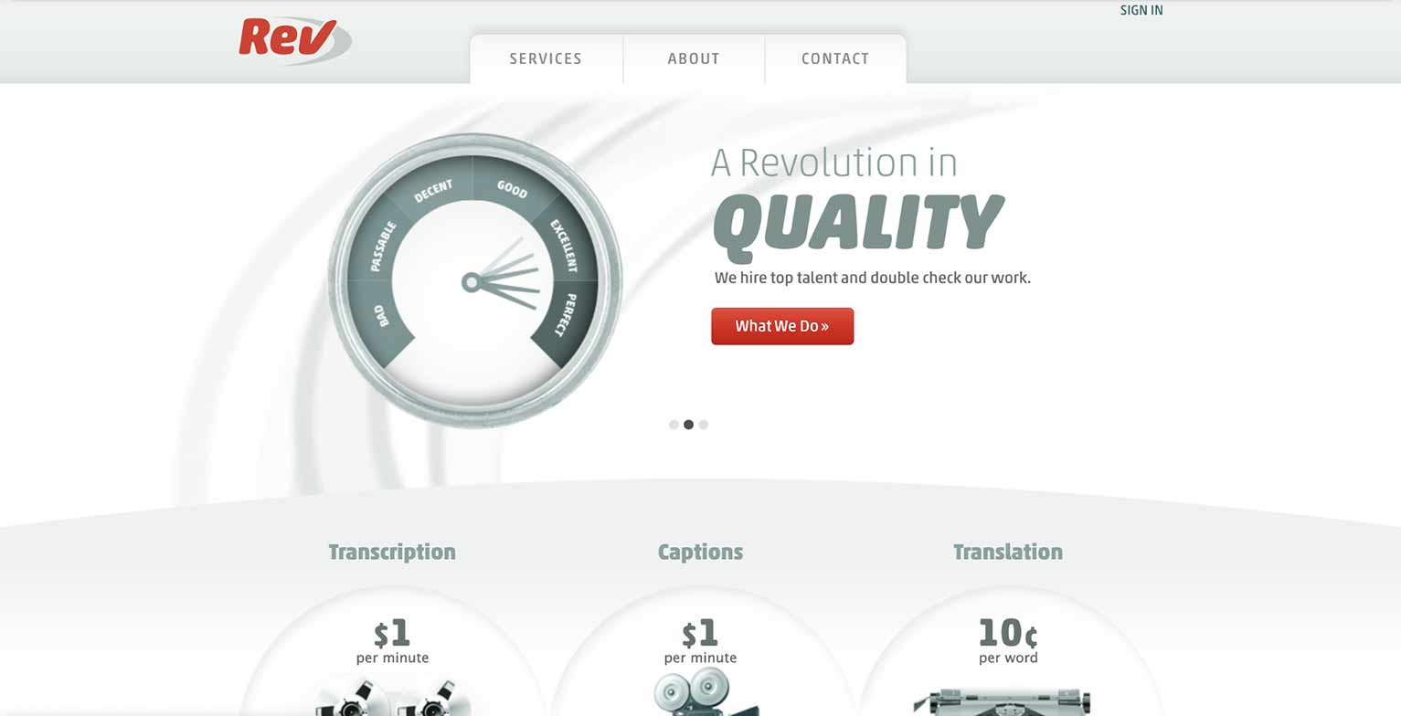 Website Redesign Example: Rev No. 1